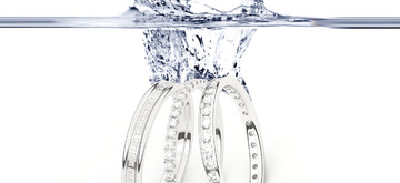 White gold wedding rings are more exclusive