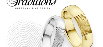 Weddingrings with a unique vingerprint